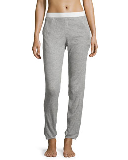 Waffle Cropped Pants, Heather Gray