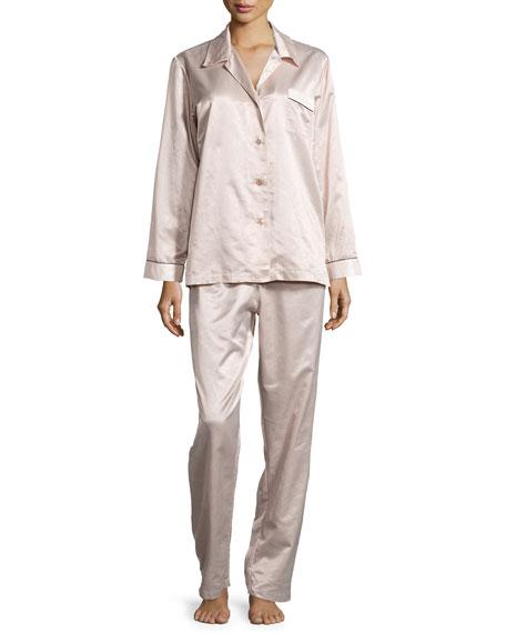 Louis at Home Monaco Piped Long-Sleeve Pajama Set,