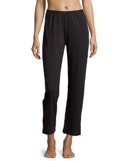Relaxed-Fit Cropped Lounge Pants, Black