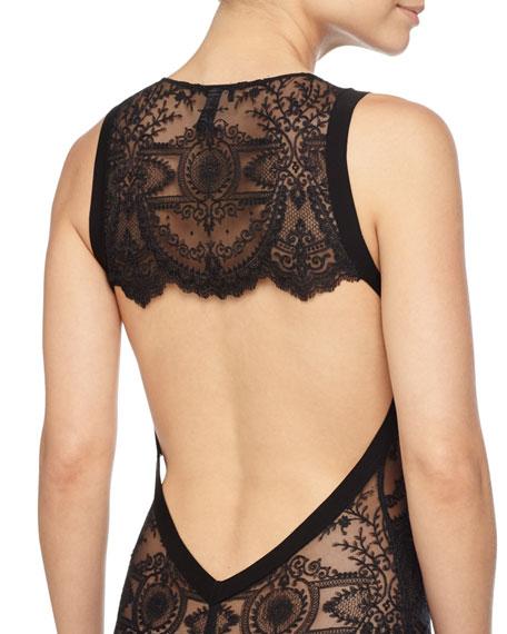 Desire Neoprene Bodysuit, Black