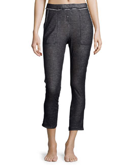 Duo-Fold Cropped Pants, Steel Blue