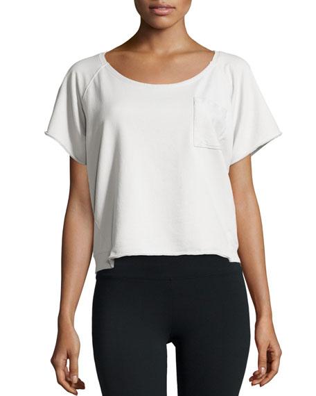 Skin Round-Neck Sweatshirt Tee, Gray