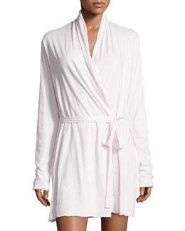 Double-Layer Jersey Wrap Robe, Powder