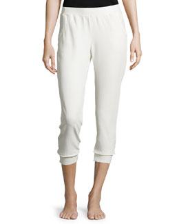 Cropped Lounge Pants, Hemp White