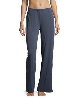 Double-Layer Jersey Lounge Pants, Steel Blue