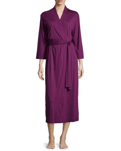 Shangri-La Jersey Long Robe, Purple