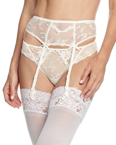 Plaisir Guipure Lace Garter Belt