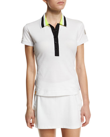 Monreal London Tipped Pique Performance Polo Shirt