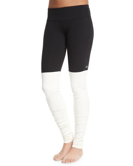 Alo YogaGoddess Colorblock Ribbed Sport Leggings