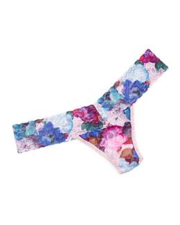 Elsa Low-Rise Printed Lace Thong, Multi Colors