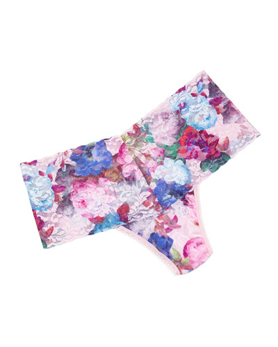 Elsa Printed Retro Thong, Multi Colors
