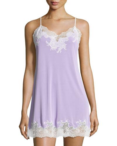 Enchant Lace-Trimmed Chemise, Lilac