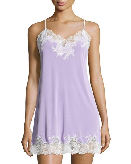 Natori Enchant Lace-Trimmed Chemise, Lilac