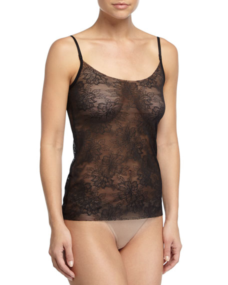 Commando Weightless Sheer-Lace Camisole, Black