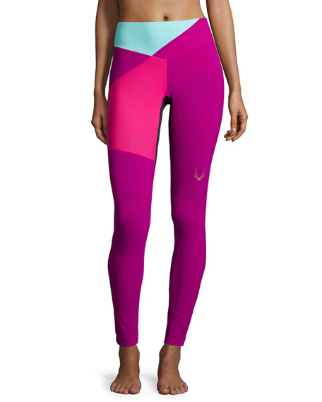Lucas Hugh Colour Bolt Sport Leggings, Violet
