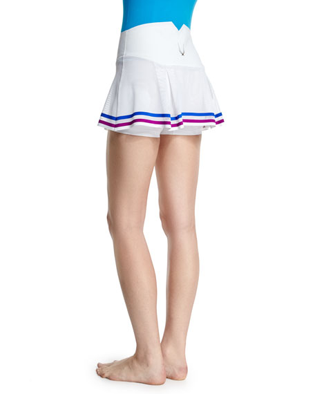 Pixel Perforated-Mesh Sport Skort