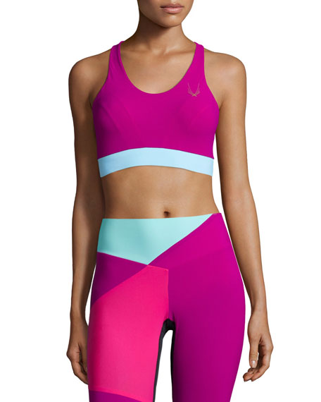 Lucas Hugh Colour Bolt Sports Bra, Violet