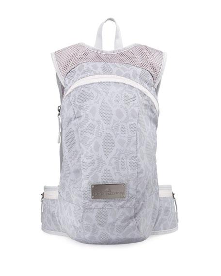 adidas by Stella McCartney Snake-Print Tech-Fabric Backpack,