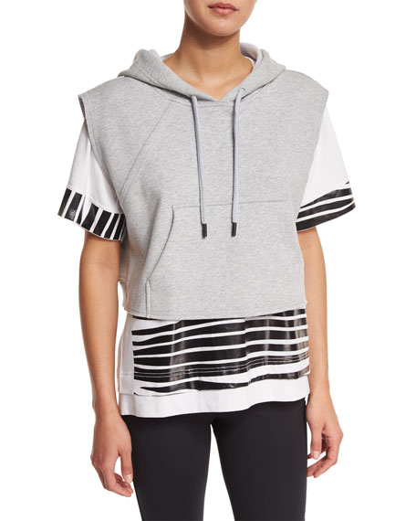adidas by Stella McCartney Yoga Sleeveless Cropped Hoodie,