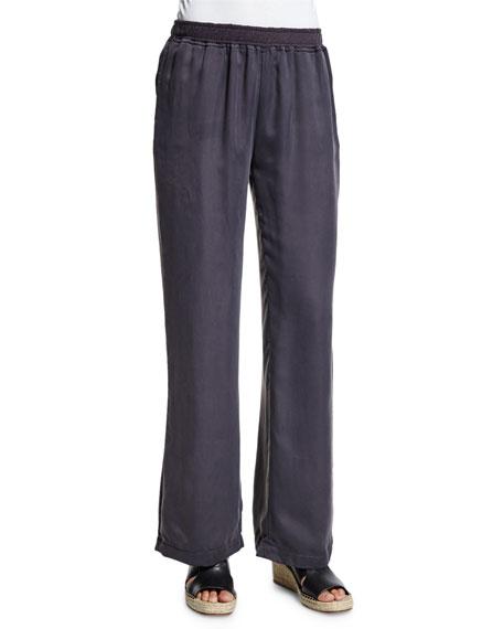 Skin Jules Wide-Leg Lounge Pants, Graphite
