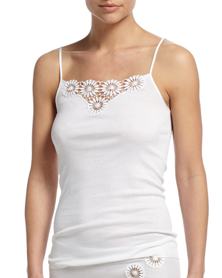 Hanro Eva Floral Embroidered Lounge/Layering Camisole