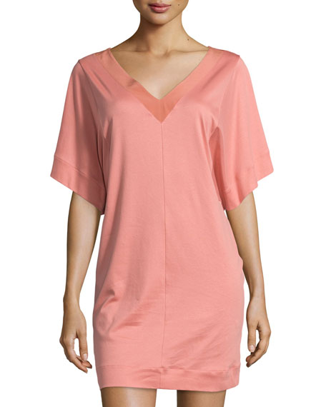 Hanro Nuria Short-Sleeve Gown