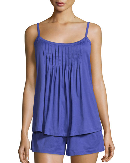 Hanro Juliet Shorty Pajama Set, Electric Blue