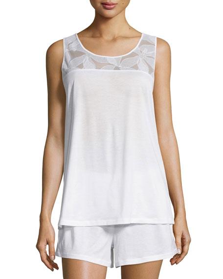Hanro Yolanda Shorty Pajama Set, White