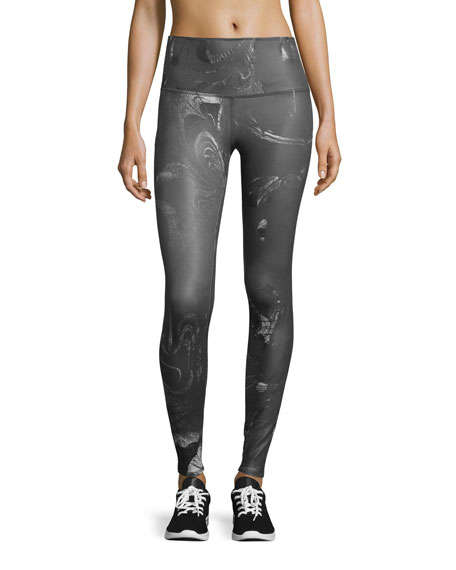 alo yoga airbrush printed high waisted sport leggings. Black Bedroom Furniture Sets. Home Design Ideas