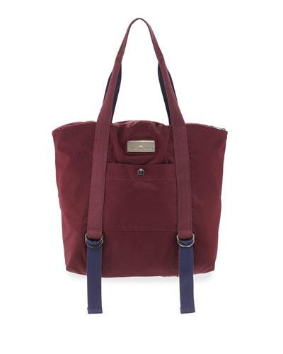 adidas by Stella McCartney Yoga Tote Bag, Maroon/Blue/Gray