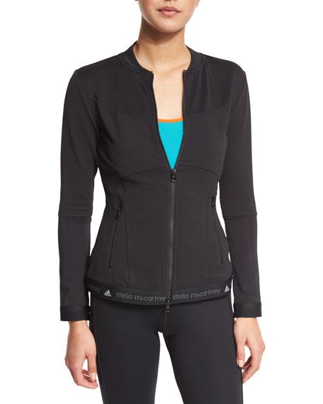 adidas by Stella McCartney Run Mid-Layer Zip-Front Jacket, Black