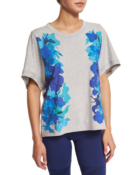 adidas by Stella McCartney Essentials Short-Sleeve Printed Tee, Pearl ...