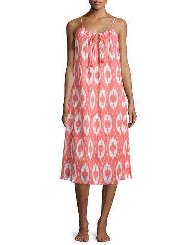 Batik Printed Cotton Gown