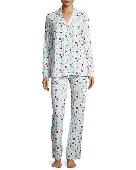 Cosabella Bella Ikat-Print Pajama Set