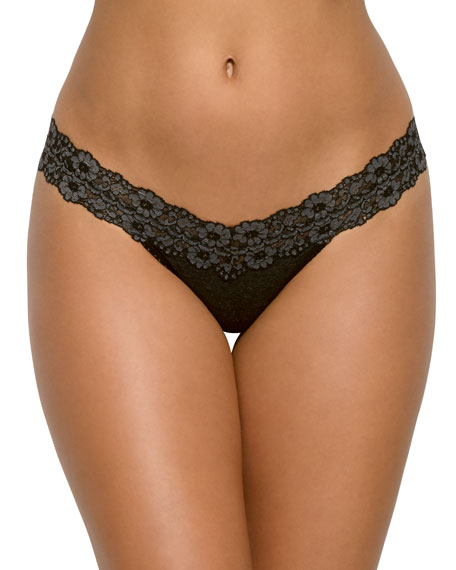 Low-Rise Heather Jersey Thong