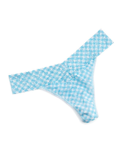 Original-Rise Check Me Out Check Thong, Multicolor