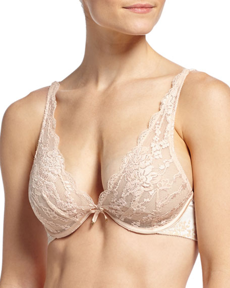 Satine V-Cut Lace Underwire Bra