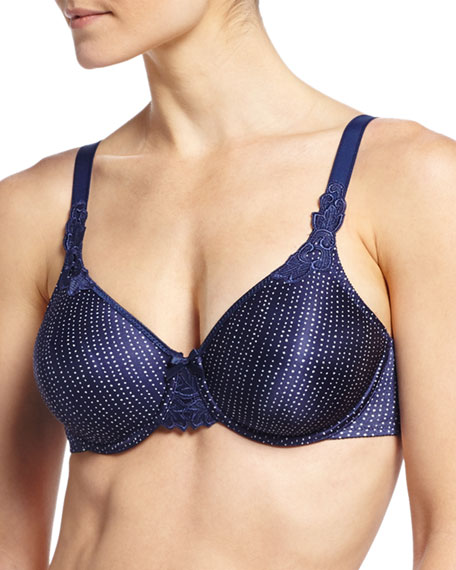 Chantelle Hedona Seamless Unlined Underwire Bra, Blue Tribal