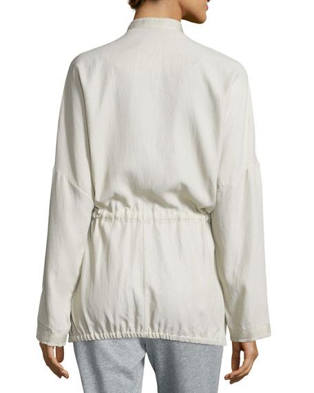 Laurie Zip-Front Anorak Jacket, Light Tan