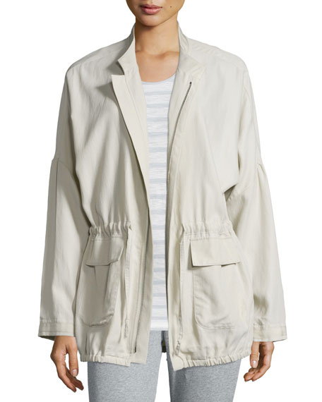 Skin Laurie Zip-Front Anorak Jacket, June Striped Racerback