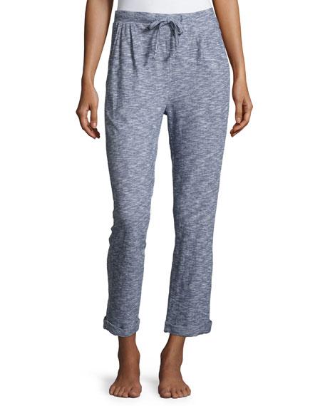 Skin Robin Melange Drawstring Lounge Pants, Denim