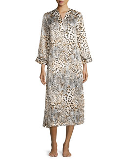Tying the Knot Caftan, Animal Print