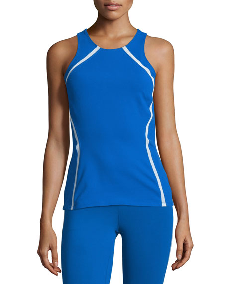 Heroine Sport Studio Mesh-Panel Athletic Tank Top &