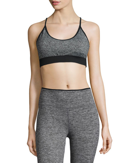 Koral Activewear Lucent Sports Bra, Heather/Black