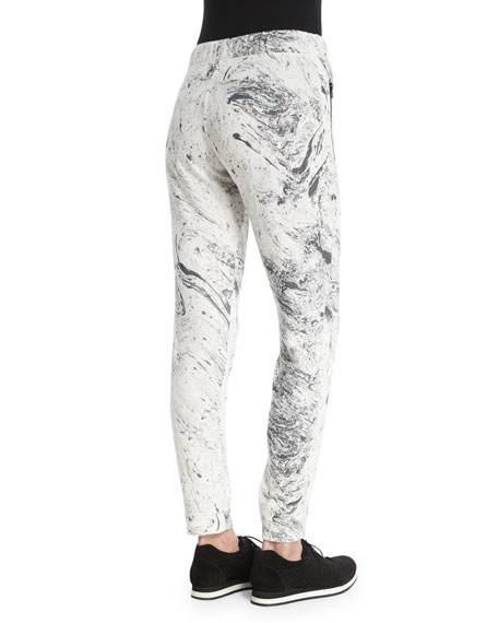 Loft Printed Sport Jogger Sweatpants, Ink