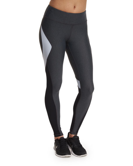 Alala Edge Colorblock Ankle Running Tights/Sport Leggings,
