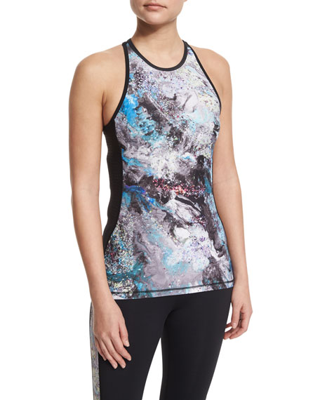 Alala All Star Hooded Mesh Vest, Printed-Front Racerback