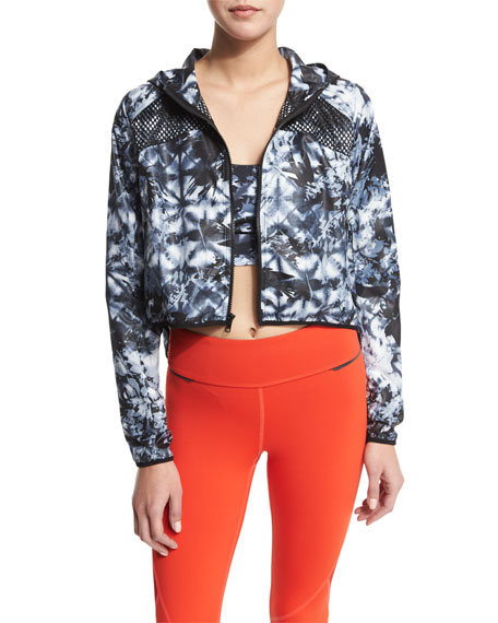 Alala Woven Mesh-Inset Athletic Zip Jacket, The Cut