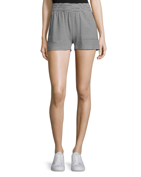Norma Kamali Striped Boyfriend Sport Shorts