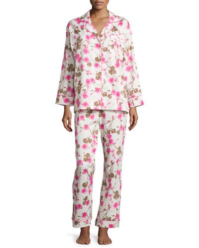 Cherry Blossom Printed Classic Pajama Set